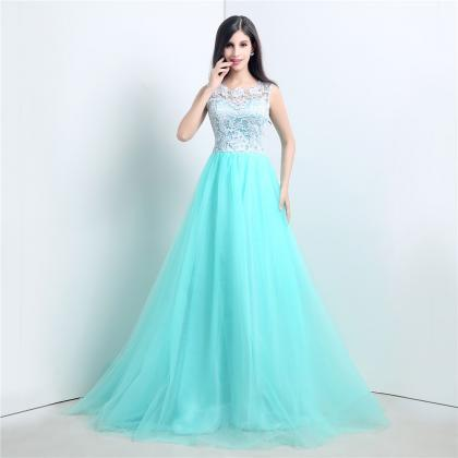 Tiffany blue lace bridesmaid dress lace tulle wedding for Wedding dresses with tiffany blue