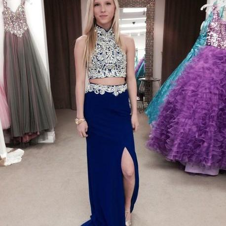 Medium blue prom dresses